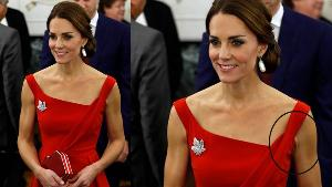 KATE MIDDLETON VE KIRMIZI ELBİSESİ
