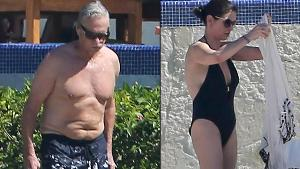 CATHERINE ZETA JONES VE MICHAEL DOUGLAS TATİLDE