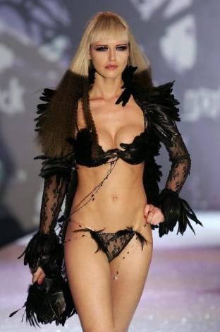 Lingerie model modeling naked sample top video