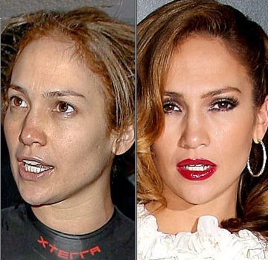 Celebs no makeup
