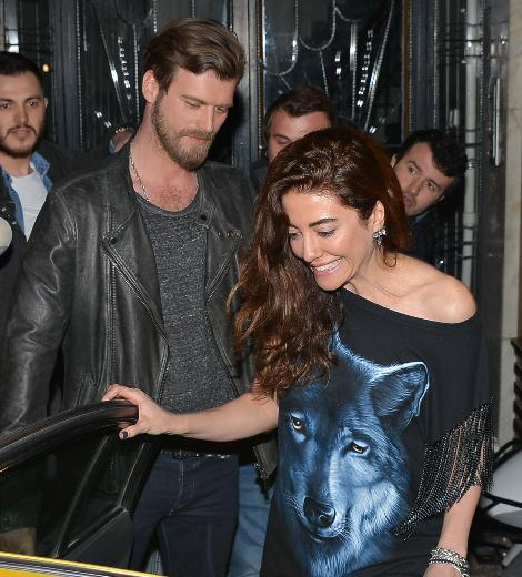 Kivanc Tatlitug With Girlfriend Basak Dizer