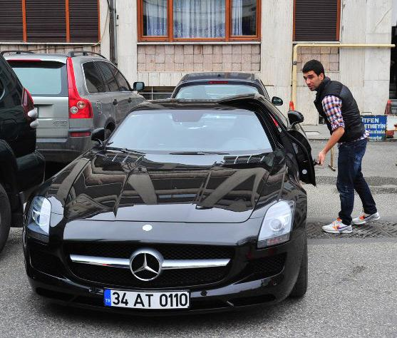 photo of Arda Turan Mercedes SLS AMG - car